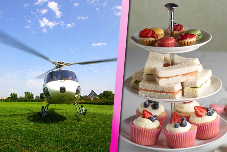 £139 instead of £318 for a 20-mile helicopter ride for 2 inc. an afternoon tea at Marco Pierre White's Wheeler's restaurant with Experify - save 56%