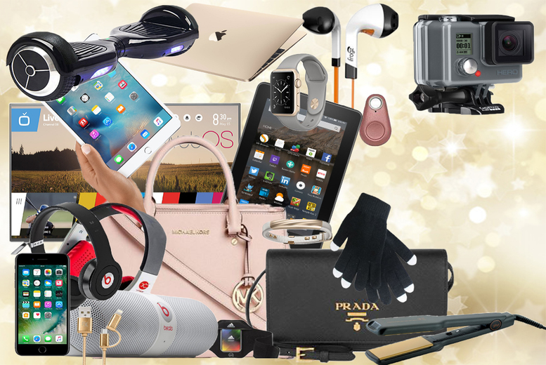 "From £7.99 for Santa's Mystery Gift - products include a 49"" LG TV, Prada Handbag, iFrogz headphones and so much more!"