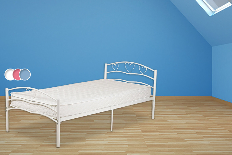 £49 (from Sleep Solutions) for a children's heart design bed, or £89 to include a coil sprung mattress
