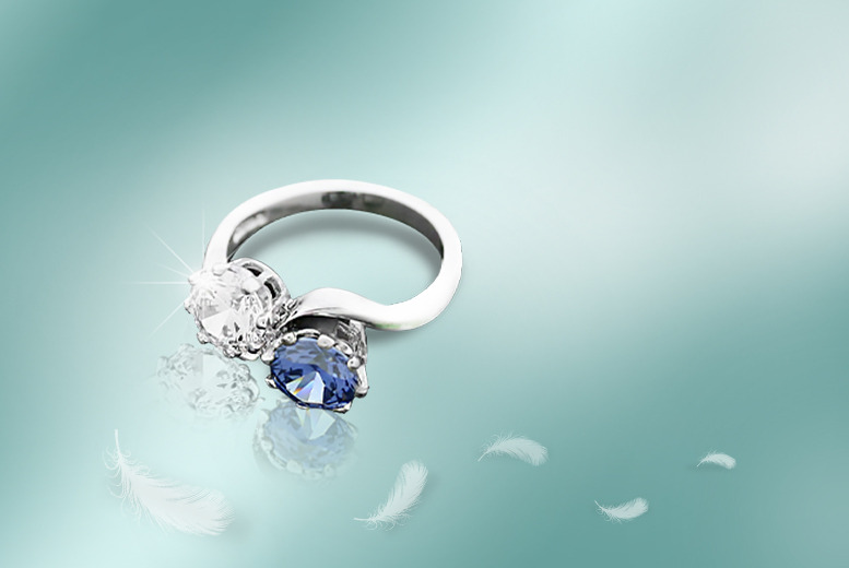 £29 instead of £99 (from British Gem) for a 1-carat tanzanite and crystal ring - save 71%