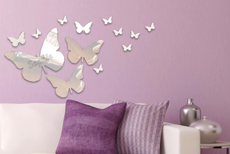 £12 instead of £36.95 (from Mungai Mirrors) for a pack of 13 butterfly mirrors, £14 for a personalised pack - save up to 68%