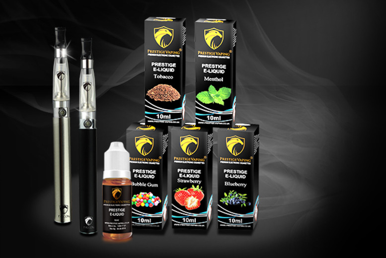 £19.99 instead of £39.99 (from Prestige Vaping) for a 9-piece e-cigarette starter kit with 5 e-liquids - pick from a variety of flavours and save 50%