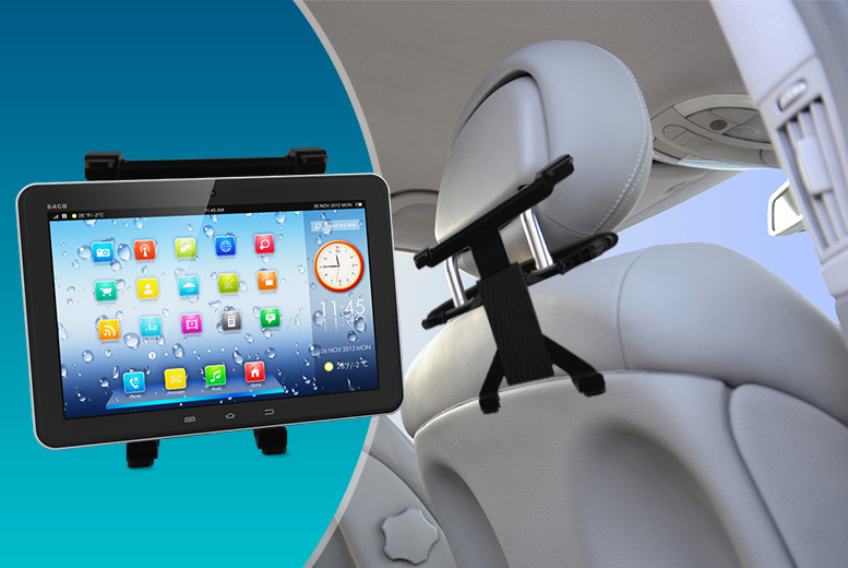 £7.99 instead of £29.99 (from Hedoo) for an iPad and tablet car head rest cradle - catch shows on the go and save 73%