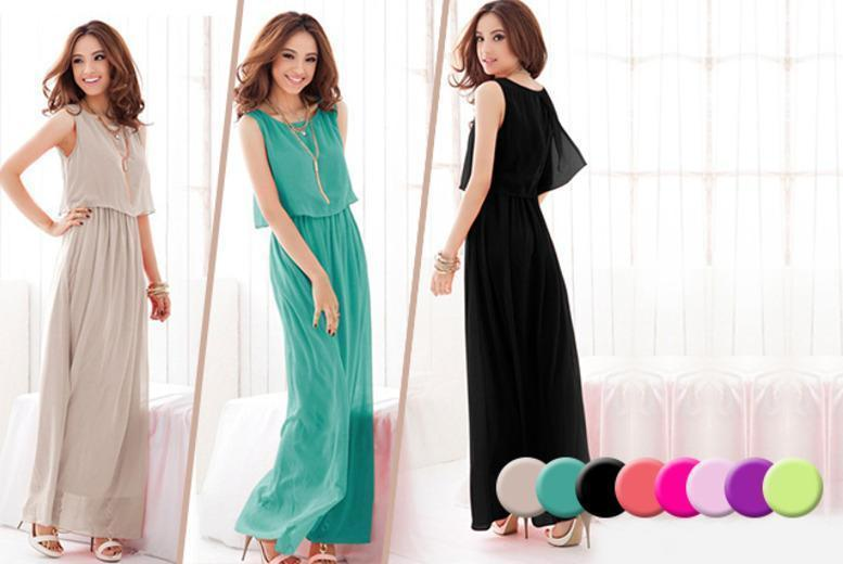 £10 instead of £39.99 for a bohemian-style maxi dress from Wowcher Direct - choose from 8 colours and save 75%