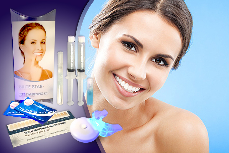 £25 instead of £147 (from Hollywood Smiles UK) for a Brite Star non-peroxide teeth whitening kit - save a pearly white 83%