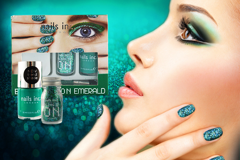 £8 for a Denim & Studs or Emerald Nails Inc gift set, £10 for a Feathers or Rocks Nails Inc gift set from Wowcher Direct - save up to 56%