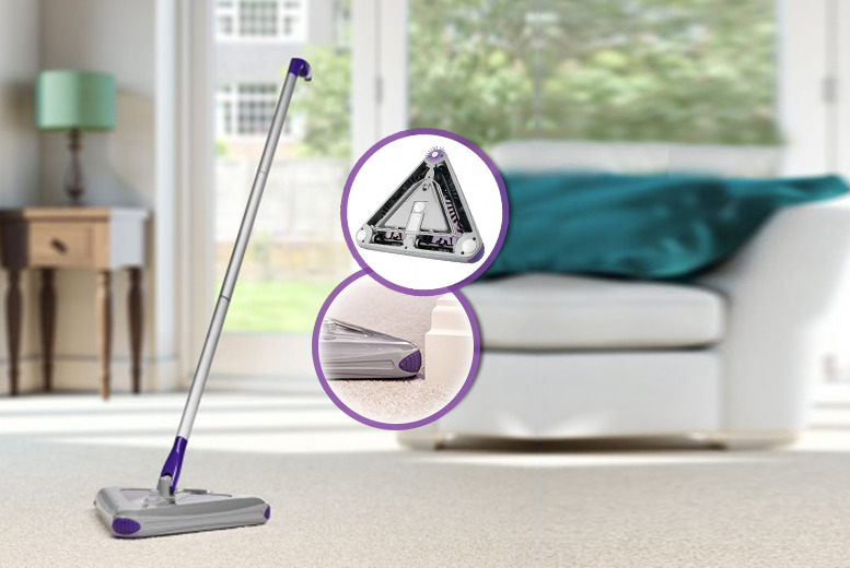 £29.99 instead of £59.99 (from Swan Products) for a triangular electric floor sweeper - save a squeaky clean 50%