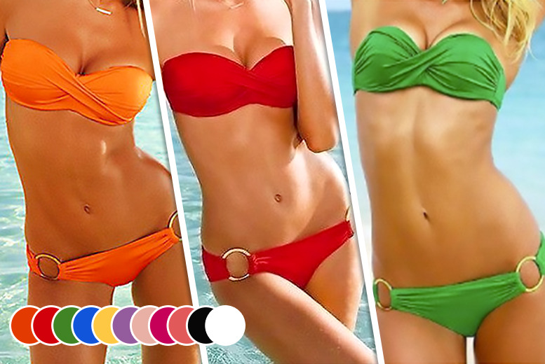 £8 instead of £26 (from Bluebell Retail) for a padded bandeau bikini - choose from 11 colours and save 69%