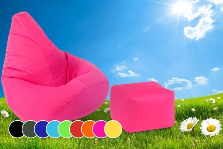 £29.99 instead of £99 (from UK Beanbags) for an outdoor highback beanbag with a matching footstool - save 70%