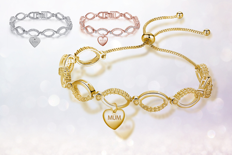 £11.99 instead of £99.99 for a luxury multi-link Mum, Nan, Sister or Plain bracelet in gold, rose gold or silver colou