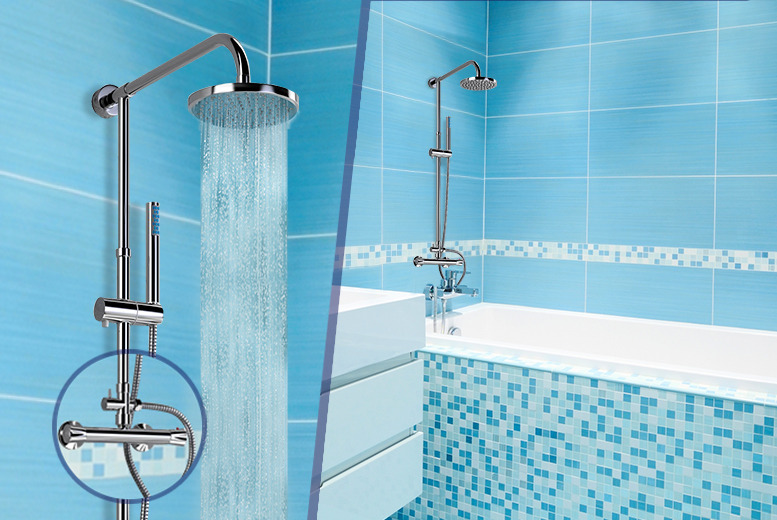 £63.99 instead of £129.99 (from Bathroom Bulldogs) for a Clarity II twin head thermostatic shower unit - save 51%