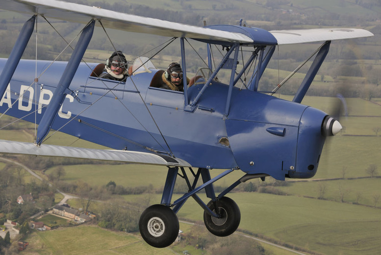 £89 instead of £198 for a fifteen-minute vintage Tiger Moth flying lesson with Vintage Flying, Foston - save 55%