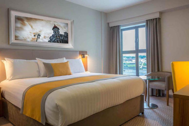 £85 for an overnight stay for two with a bottle of sparkling perry, breakfast, dinner and late checkout, £135 for two nights at Maldron Hotel, Derry