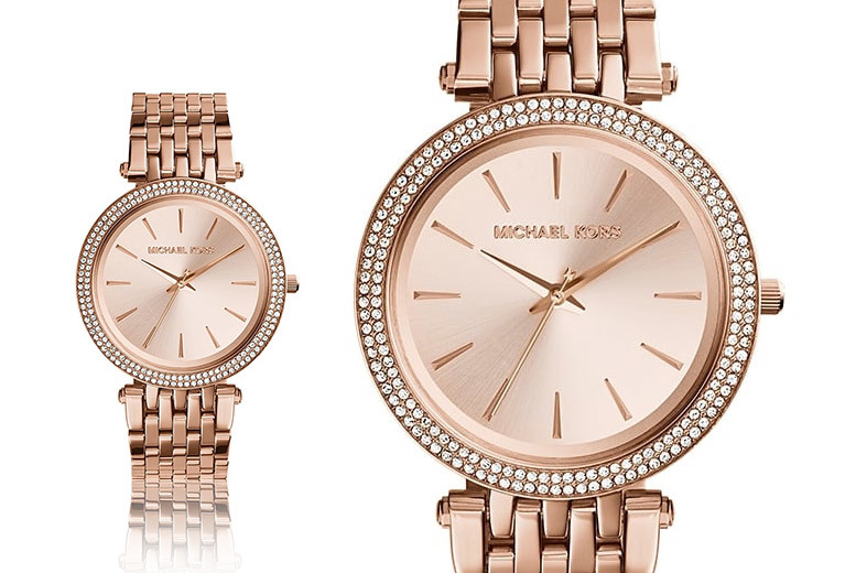 £119 instead of £229 for a Michael Kors women's Darci rose-gold watch - get your class on and save 48%