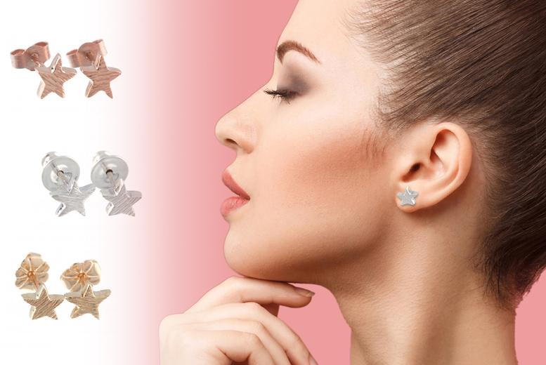 Set Of 3 Little Star Earrings Deal Price £ 4.99