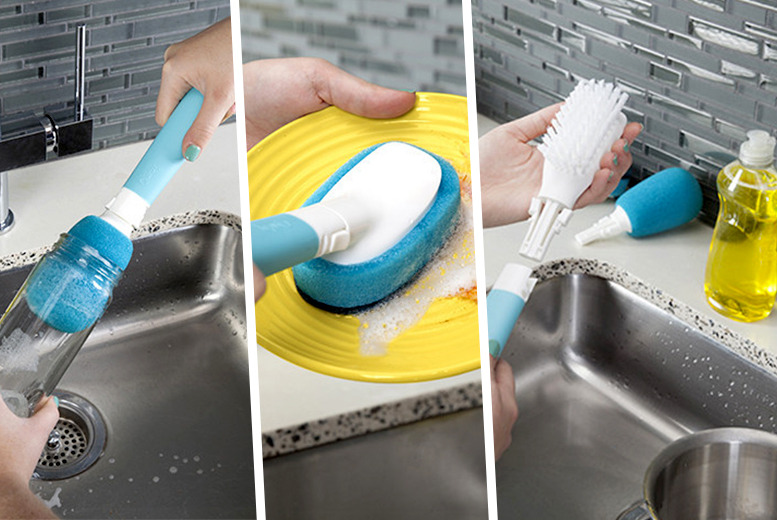 £6.99 instead of £12 (from 2tech) for a 3-in-1 kitchen cleaning brush, £11.99 with a squeegee dispenser cleaner - save up to 42%