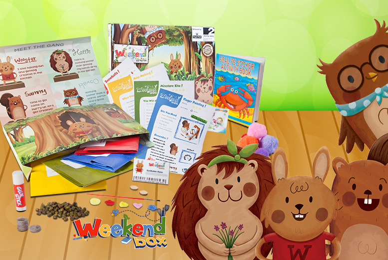 £4 (from Weekend Box) for a children's activity box, £7 for two or £14 for four - save up to 47% + DELIVERY INCLUDED