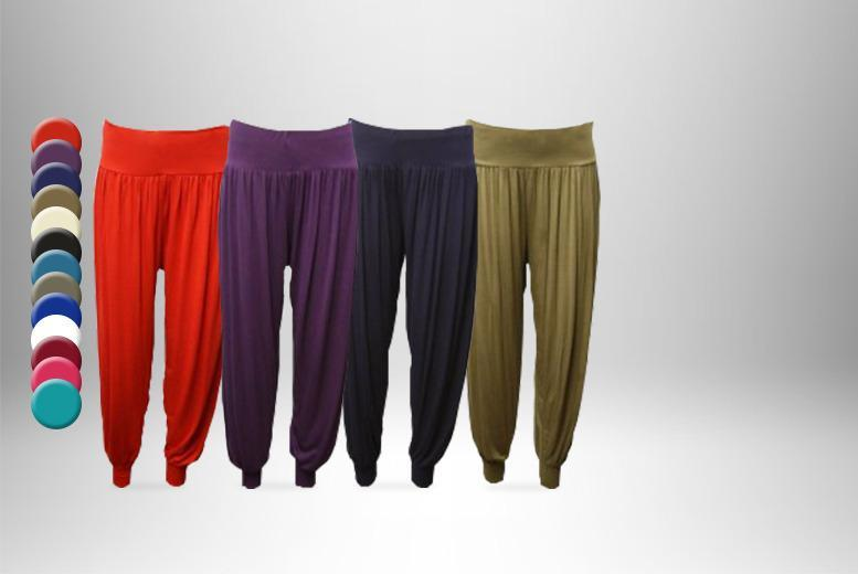 £6.99 instead of £19.99 (from Top Notch Fashion) for a pair of harem trousers, or £12 for 2 pairs - save up to 65%