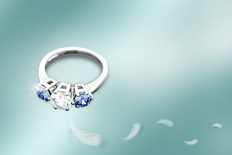 £29 instead of £99 (from British Gem) for a 1-carat tanzanite and crystal ring from a choice of three designs - save 71%