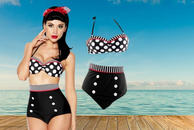 £16 instead of £57 (from Bluebell Retail) for a vintage pin-up style high-waisted bikini in a choice of styles - save 73%