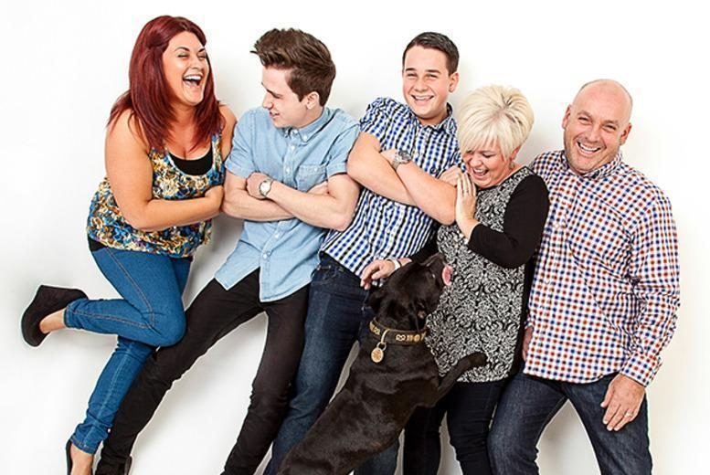 """£9 for a 1-hour family photoshoot with your pets inc. 10"""" x 8"""" print, viewing & popcorn at Daniel Moore Photography - save up to 64%"""