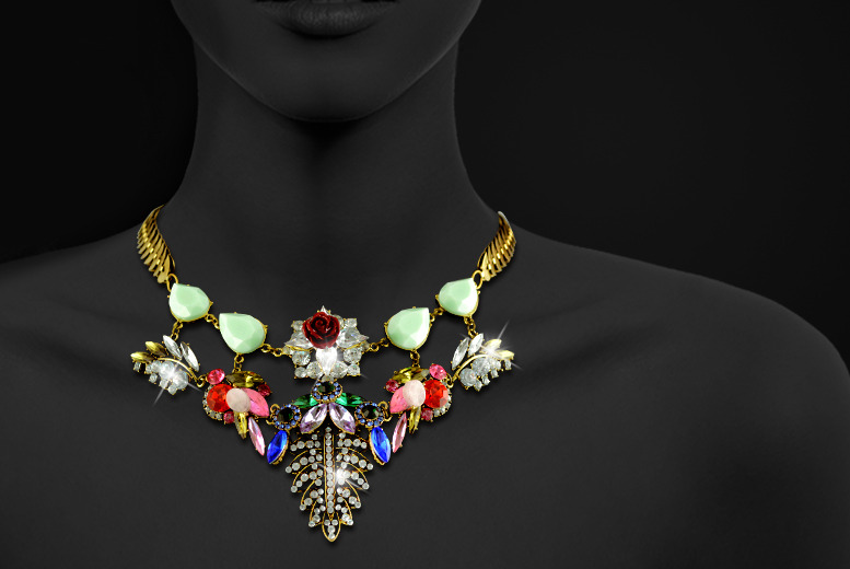 £10 instead of £50 (from Cian Jewels) for a vintage statement necklace made with Austrian crystals - save 80%