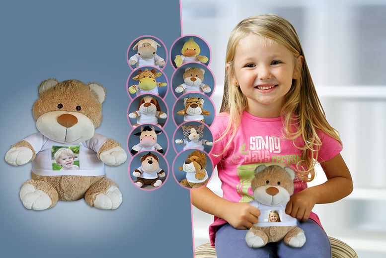 £7.99 instead of £15.95 (from Print My Photo) for a personalised photo teddy bear, or £14.99 for two - save up to 50%