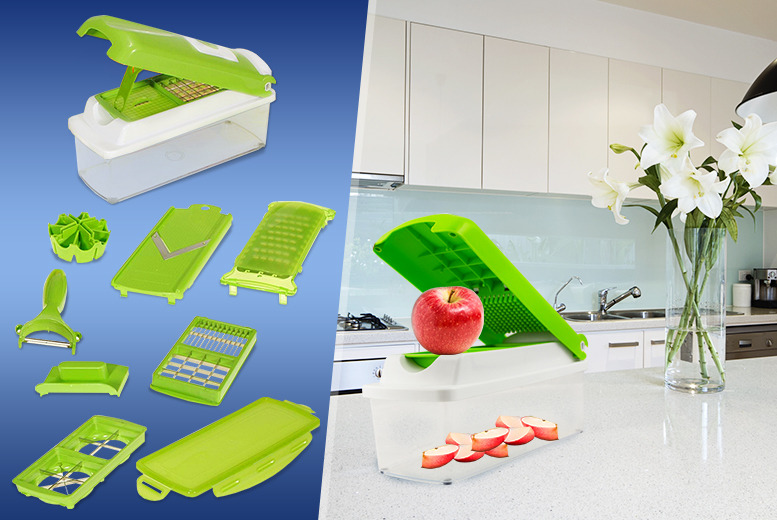 £9.99 instead of £23 (from Zoozio) for a 1500ml capacity Super Dicer Plus inc. 5 stainless steel blades - save 56%