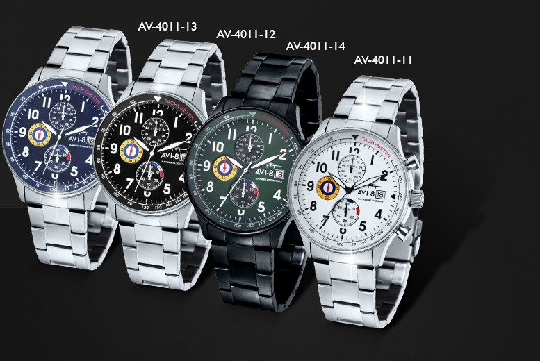 £79.99 instead of up to £280 (from AVI-8) for an AVI-8 Hawker Hurricane chronograph watch - save up to 71% + DELIVERY INCLUDED