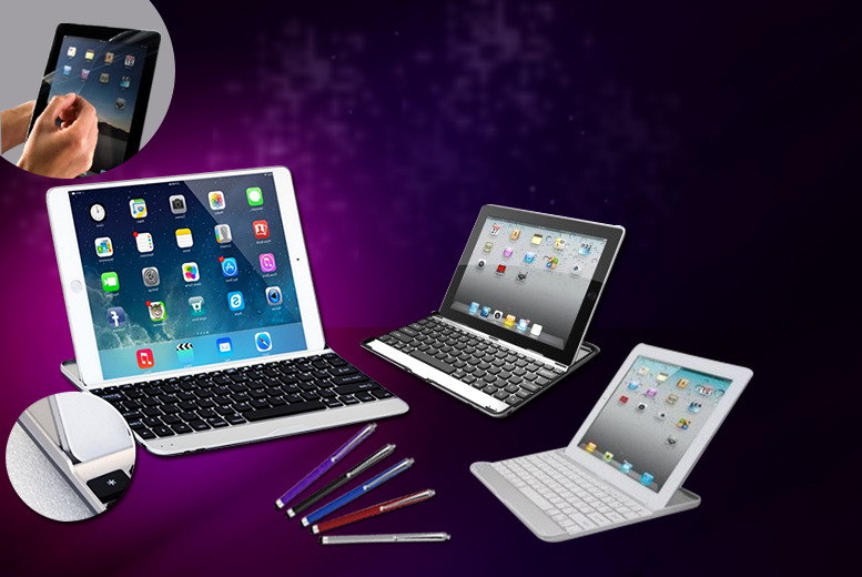 £11.99 instead of £72.99 (from Hedoo) for an aluminium iPad keyboard case, screen protector, stylus and folding stand - save 84%