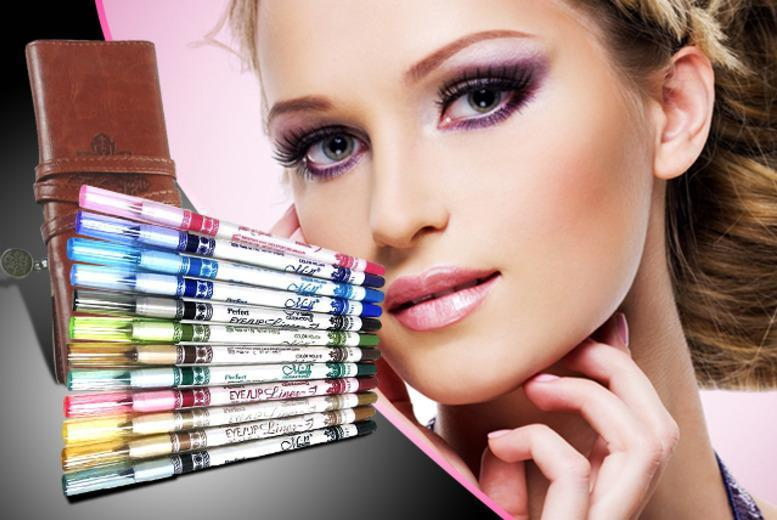£6 instead of £49.99 (from Quick Style) for a 12 glitter eye pencils, £10 inc. 88-colour palette – save 88%