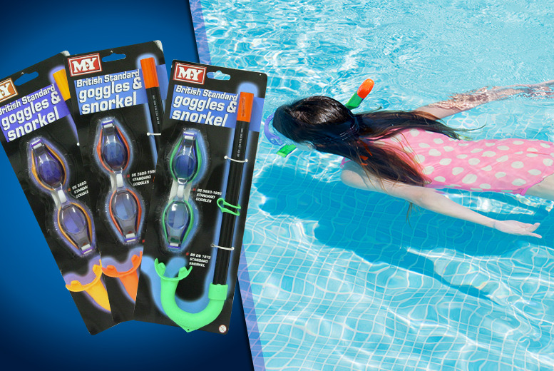 £4.99 instead of £19.99 (from London Exchainstore) for a children's goggle and snorkel set – swim with the fishes and save 75%