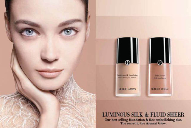 £8 for a Giorgio Armani Glow makeup masterclass and makeover experience at Jenners, Edinburgh