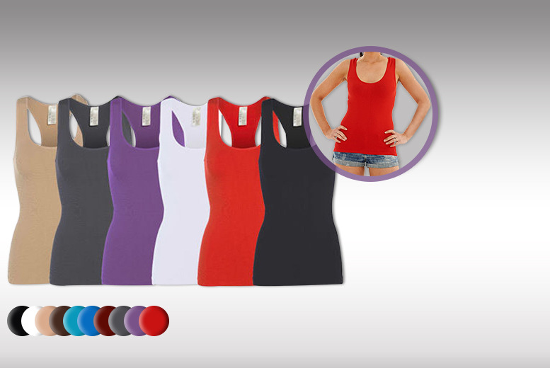 £16 instead of £64.91 (from Get the Trend) for 10 seamless racerback vest tops - pick from a choice of colours & save 75%