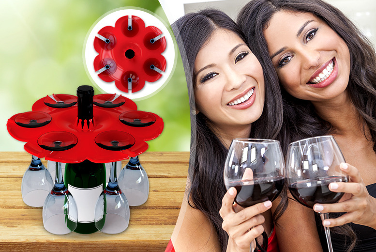 £9.99 instead of £29.99 (from World Spinners) for a bouquet wine glass & bottle tray - save 67% + DELIVERY INCLUDED