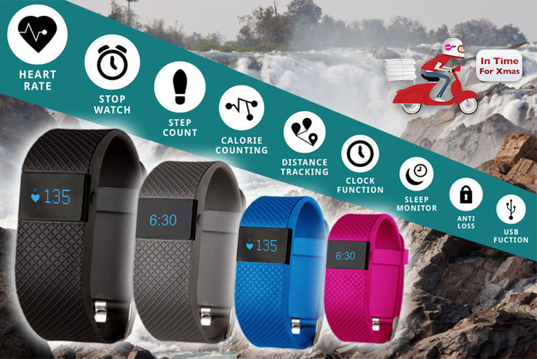 £19.99 instead of £101 for a TW64s 8-in-1 Bluetooth sports activity bracelet with heart rate monitor available in black, navy, pale blue & pink from Ckent Ltd - save 80%