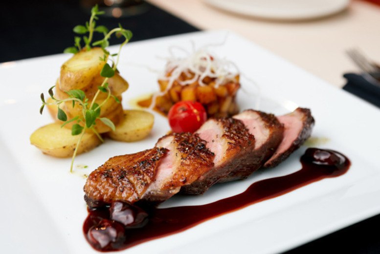 £21 for a two-course meal for two people with a glass of wine each at 4* Millennium Hotel Glasgow