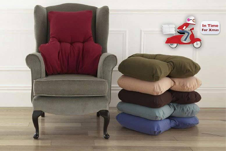£11 instead of £30 (from Diana Cowpe) for a back support cushion - choose from blue, wine, sand, teal, brown or green and save 63%