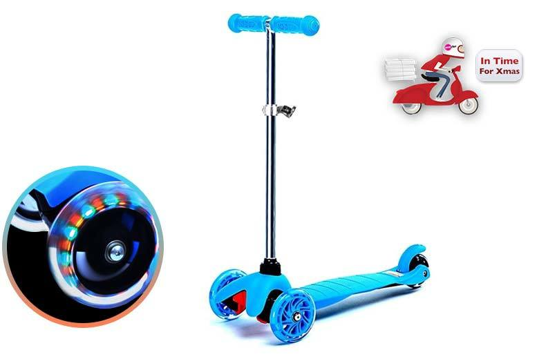 £29 instead of £125 (from Eurotrade) for a kid's kick push light up mini scooter - get a gift your children will adore and save 77%