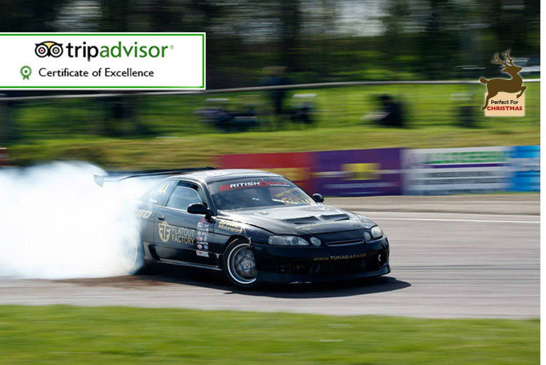 £59 instead of £199 for a drifting experience for one, £109 for two, £199 for four, £299 for six at Flatout Factory - choose Birmingham or Brands Hatch and save up to 70%