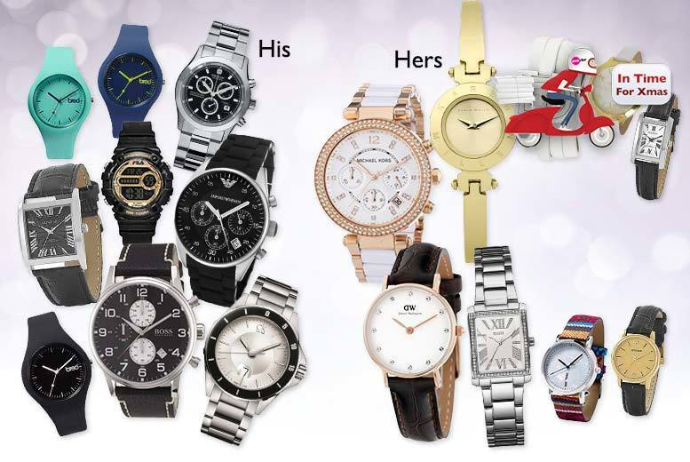 £10 (from Brand Arena) for a mystery watch for him or her - including Michael Kors, Armani, Guess, Hugo Boss, Swiss Military, DKNY, Calvin Klein, Karen Millen and more!