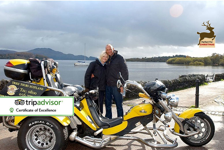 £99 instead of up to £250 for a one-hour trike tour for two people including equipment, photos, hot drink and shortbread with Trike Tours Scotland - save up to 60%