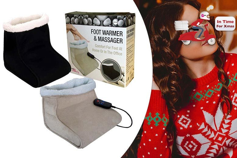 £16.99 instead of £49.99 (from Guaranteed for Less) for an electric foot warmer and massager, or two for £29.99 - save up to 66%