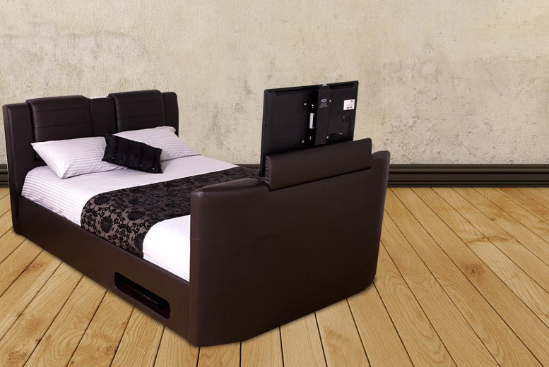 TV Bed with Built-in Bluetooth Sound System
