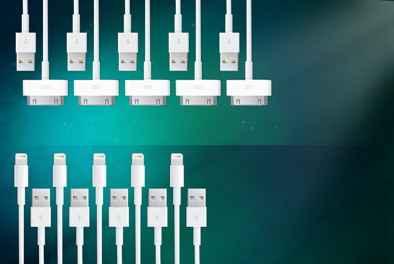 £3.99 (from Planet of Accessories) for a 1m iPhone charging cable, £5.99 for 2, £7.99 for 3, £9.99 for 4 or £11.99 for 5 - save up to 73%