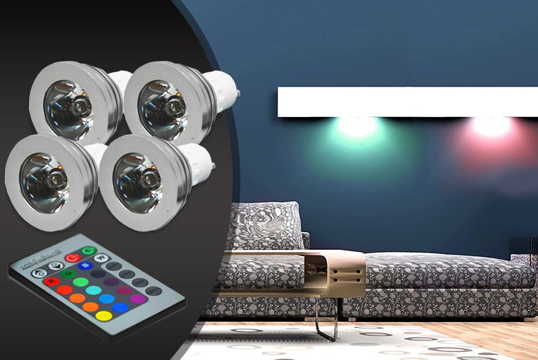 £19.99 instead of £59.99 (from ledlive.co.uk) for a set of 4 LED colour-changing lightbulbs with remote control, £38.99 for 8 - save up to 67%