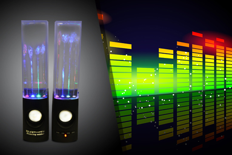 £12.99 instead of £29.99 (from Pink Basket) for a pair of LED dancing water speakers - save 57%
