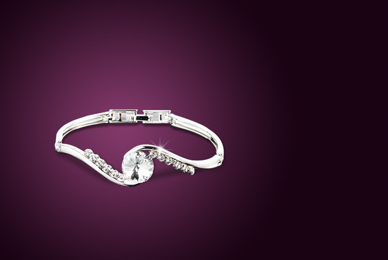 £10 instead of £79.99 (from Marcus Emporium) for a solitaire bangle made with Swarovski Elements - save 87%