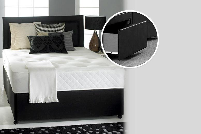 From £199.95 (with Fishoom) for a divan bed and memory sprung mattress, or from £249.95 with 2 accompanying storage drawers - save up to 79%