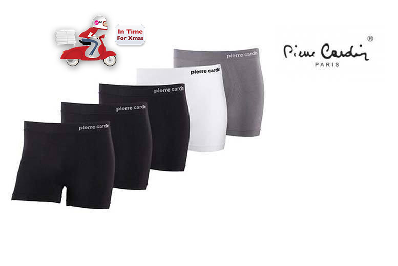 £19 instead of £35 (from Brand Shopping Direct) for a pack of five men's Pierre Cardin boxer shorts – choose from four colour sets and save 46%